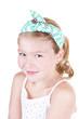 young girl wearing vintage headband