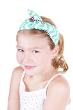 young girl wearing vintage headband