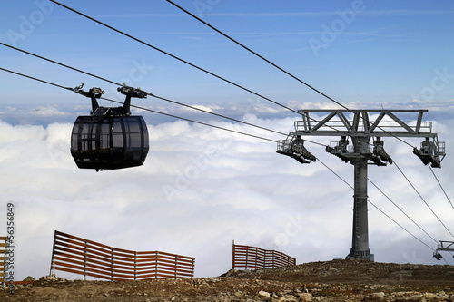 Cable car in Jasna, ski resort in Central Europe, Slovakia