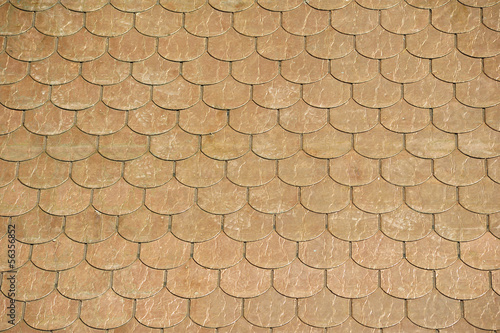 Roof with copper tiles