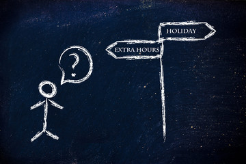 choices: working more or taking more holidays?