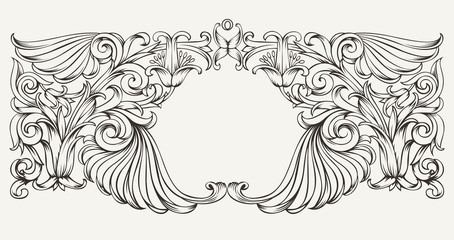 Vintage High Ornate Frame Background