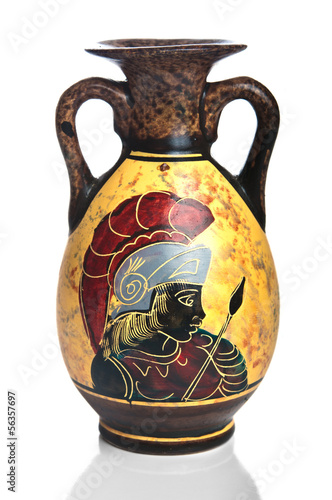 Old Greek amphora closeup