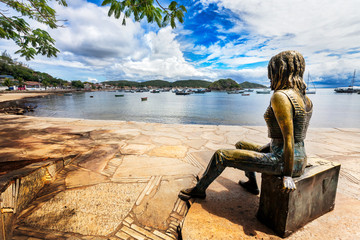 Statue of Brigitte Bardot in Buzios harbour