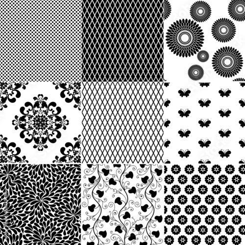 Big set seamless vintage pattern