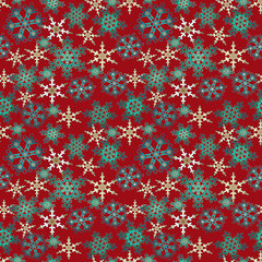 Merry Christmas and Happy New Year red background pattern