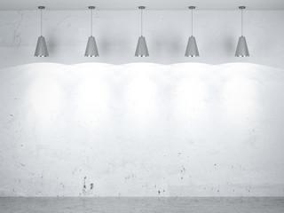 Five lamps in interior