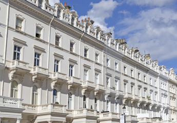 Georgian Stucco front houses in London