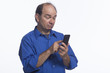 Man using his smartphone, horizontal