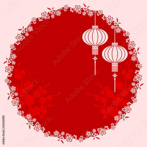 Oriental Chinese Lantern Illustration