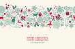 Vintage Christmas reindeer seamless pattern background. EPS10 fi - 56361800