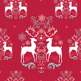 Vintage Christmas elements seamless pattern background. EPS10 fi