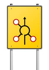 Schild gelb Entscheidung