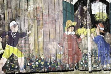 Graffiti su legno