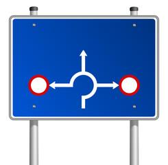 Schild Richtungen