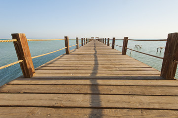 Wooden jetty on a tropical island