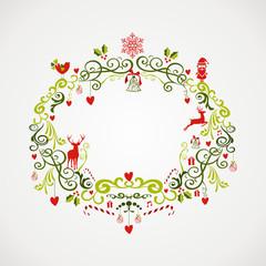Vintage Christmas elements mistletoe design EPS10 file.