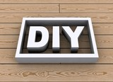 DIY on wooden background