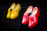 Red and yellow dutch clogs