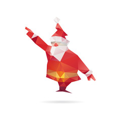 Santa Klaus abstract isolated on a white backgrounds