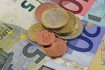 euro coins notes