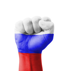 Fist of Russia flag painted, multi purpose concept