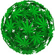 Medical Marijuana Leaf Sphere Background