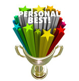 Personal Best Winner Trophy Pride in Accomplishment poster