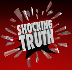 Shocking Truth Words News Information Surprise