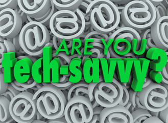 Are You Tech Savvy Email Symbol SIgn Background