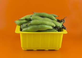 broad bean pods