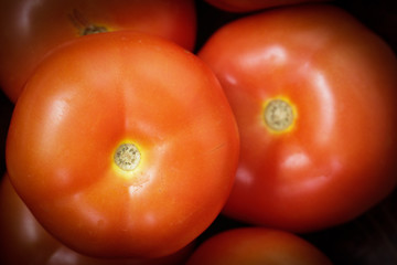 Close up Red tomatoes