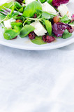 Fresh healthy gourmet green salad for lunch dinner