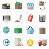 Business finance and shopping icons
