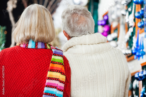 Senior Couple At Christmas Store