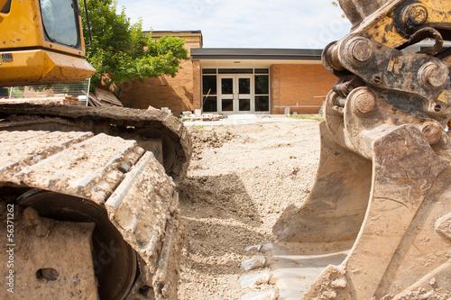 Leinwanddruck Bild School renovation