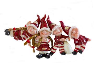 Dwarfs figurines isolate white