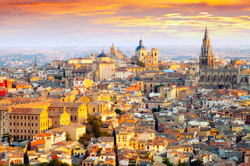 Dawn view of Toledo