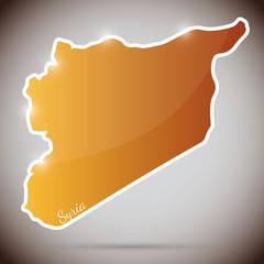 vintage sticker in form of Syria