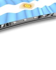 Designelement Flagge Argentinien