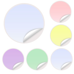 Pastel Colored Vector Sticker Postit