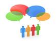 Exchange of opinions. Gossip