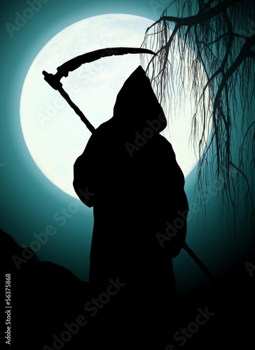 canvas print picture Silhouette of death