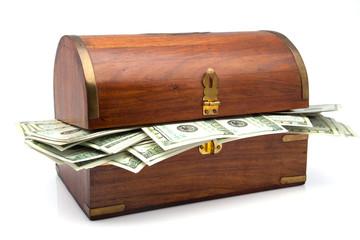 baúl lleno de billetes