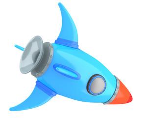 Cartoon-styled rocket