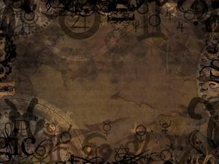 astrological symbols background illustration
