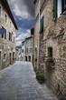Ancient alleyway (Montalcino. Tuscany, Italy)