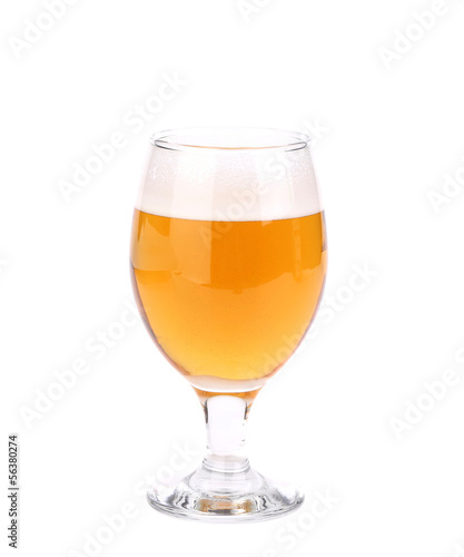 Wine goblet of beer
