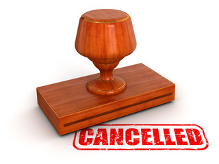 Rubber Stamp Cancelled (clipping path included)
