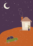 Homecoming late at Night poster